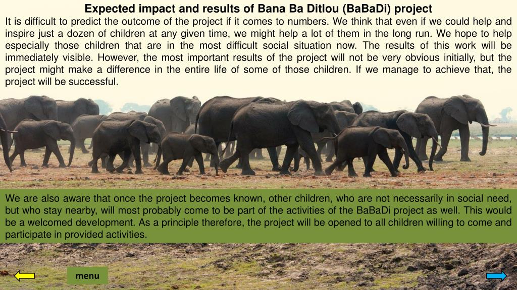Expected impact and results of