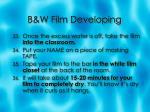 b w film developing10