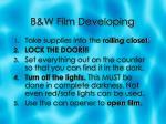 b w film developing3
