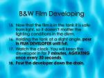 b w film developing6