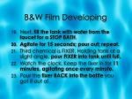 b w film developing7