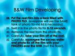 b w film developing9