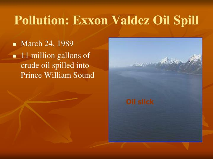 Pollution: Exxon Valdez Oil Spill