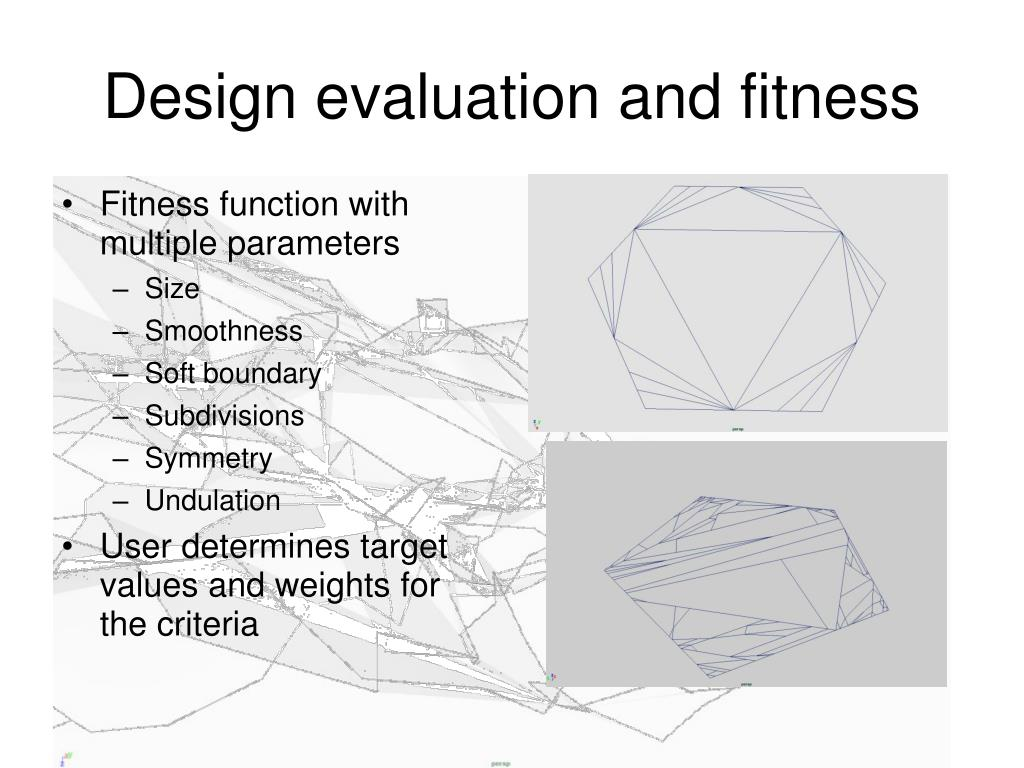 Design evaluation and fitness