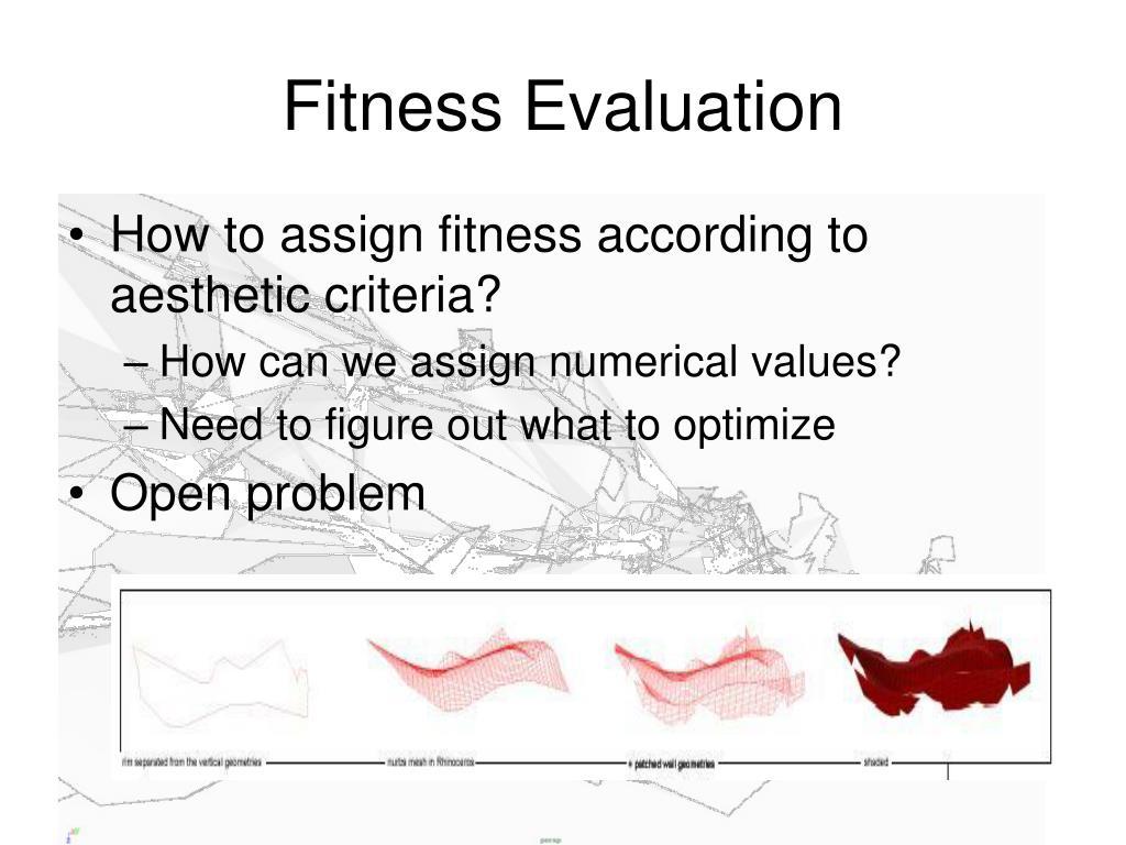 Fitness Evaluation