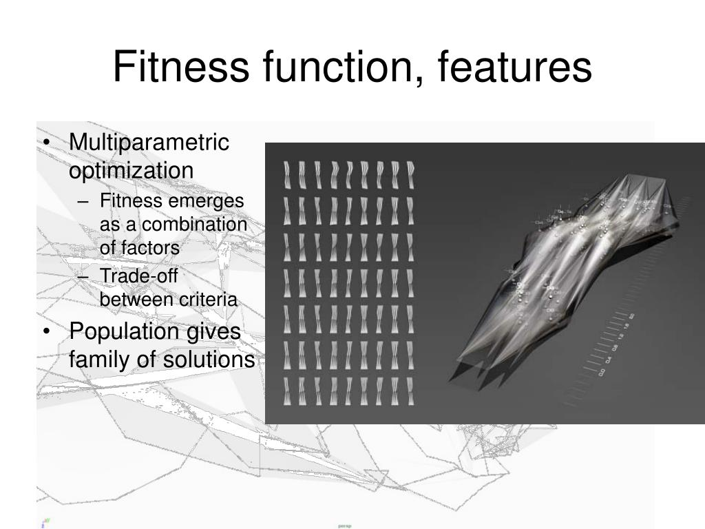 Fitness function, features