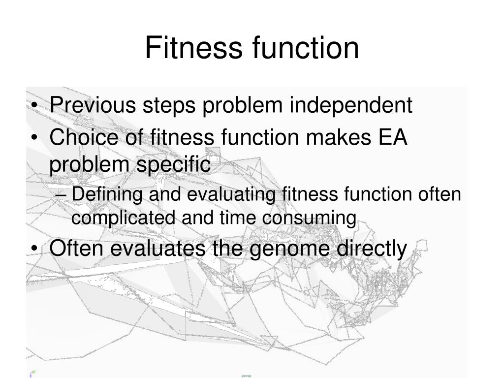 Fitness function