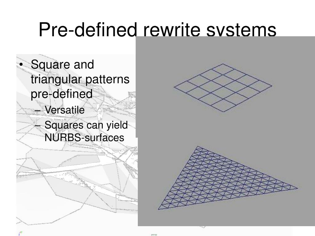 Pre-defined rewrite systems
