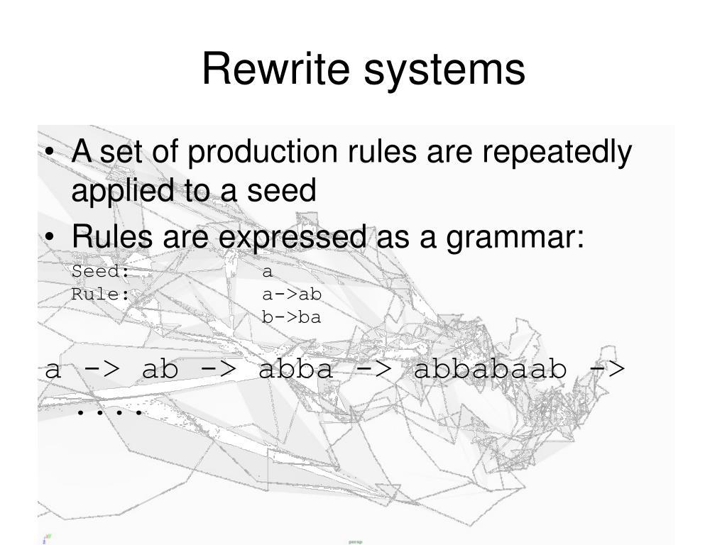 Rewrite systems