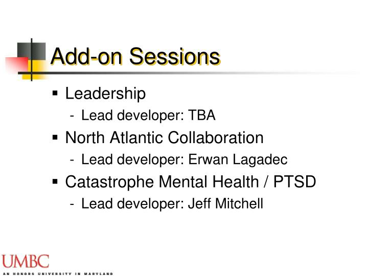 Add-on Sessions