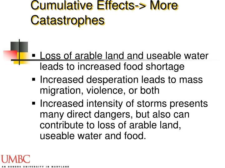 Cumulative Effects-> More Catastrophes