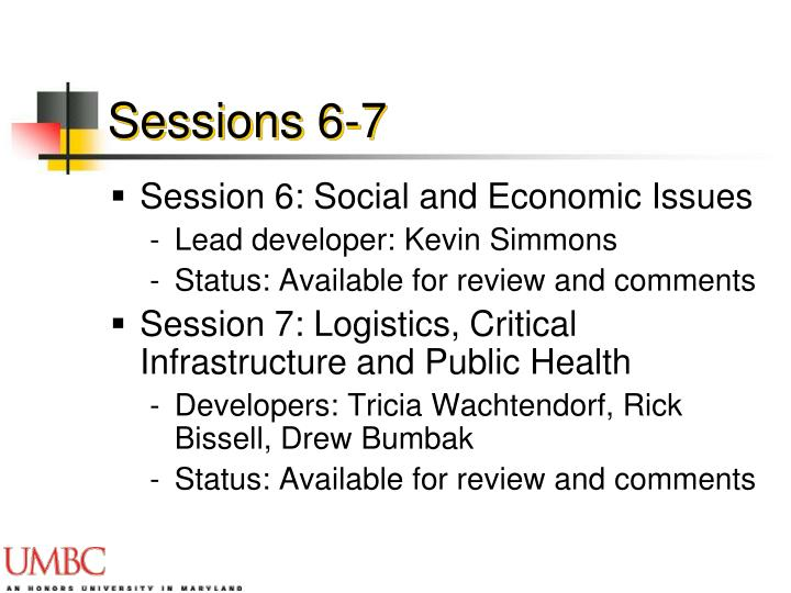 Sessions 6-7