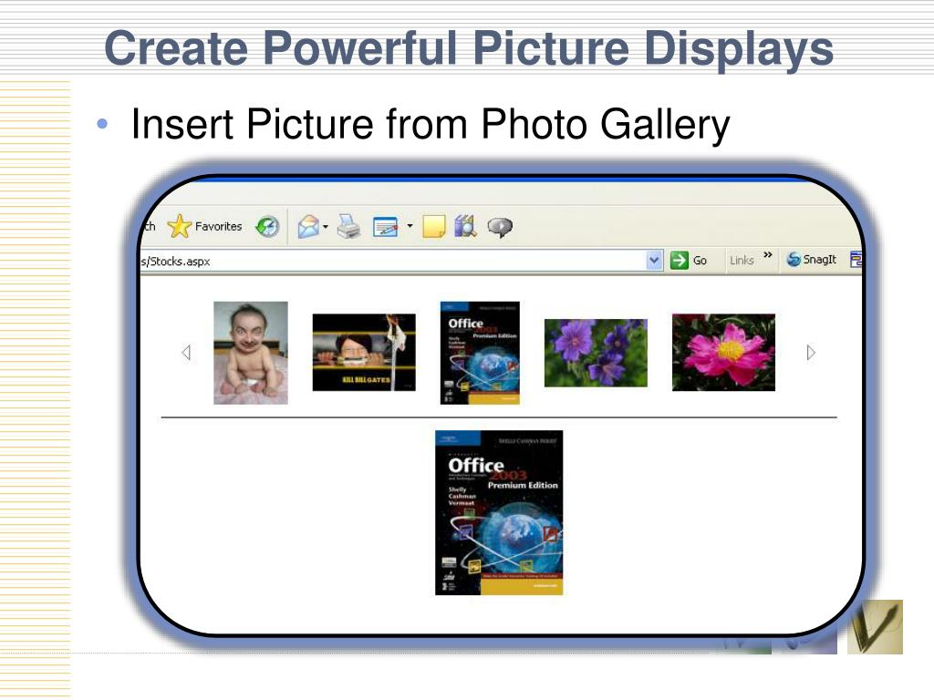 Create Powerful Picture Displays
