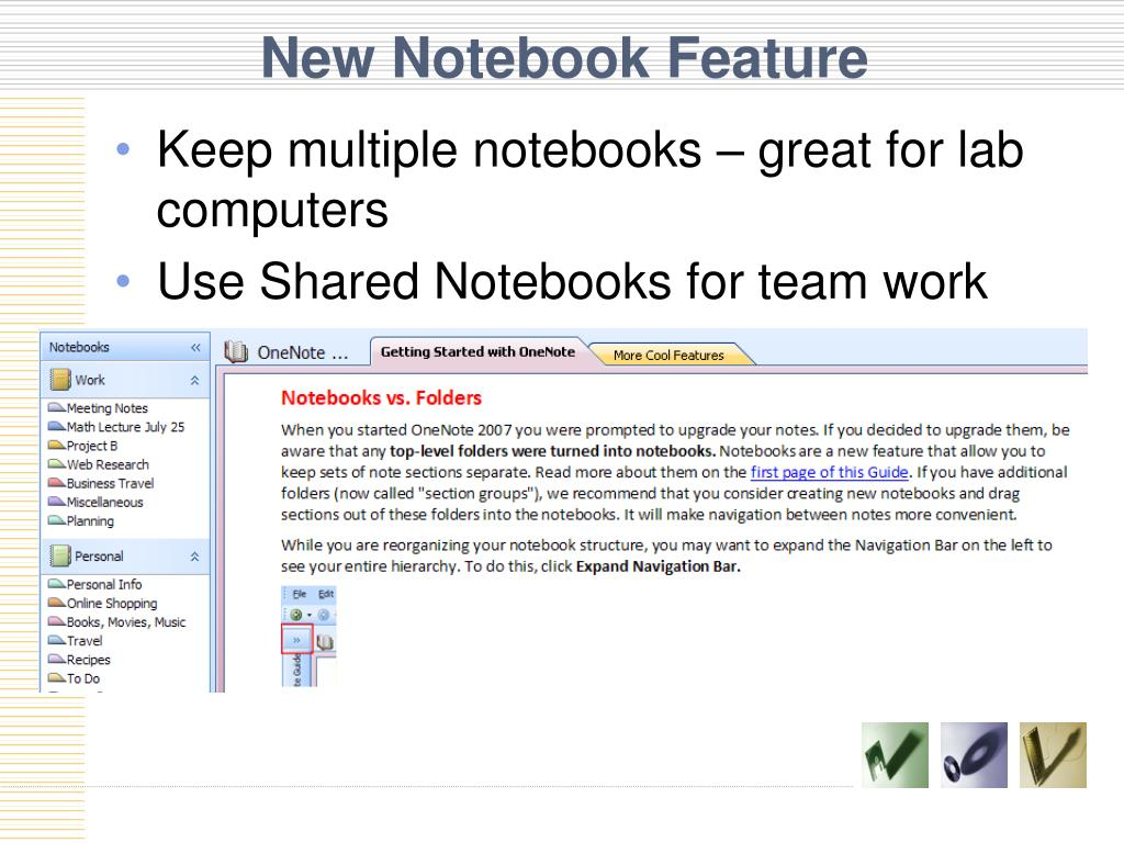 New Notebook Feature