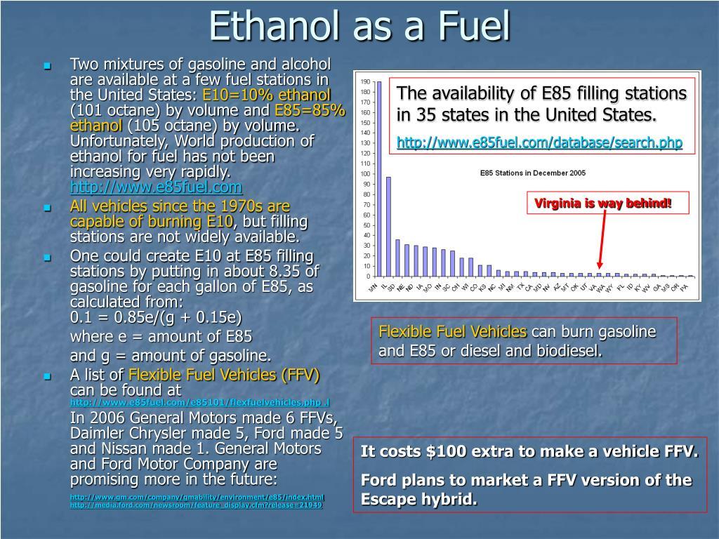 Ethanol as a Fuel