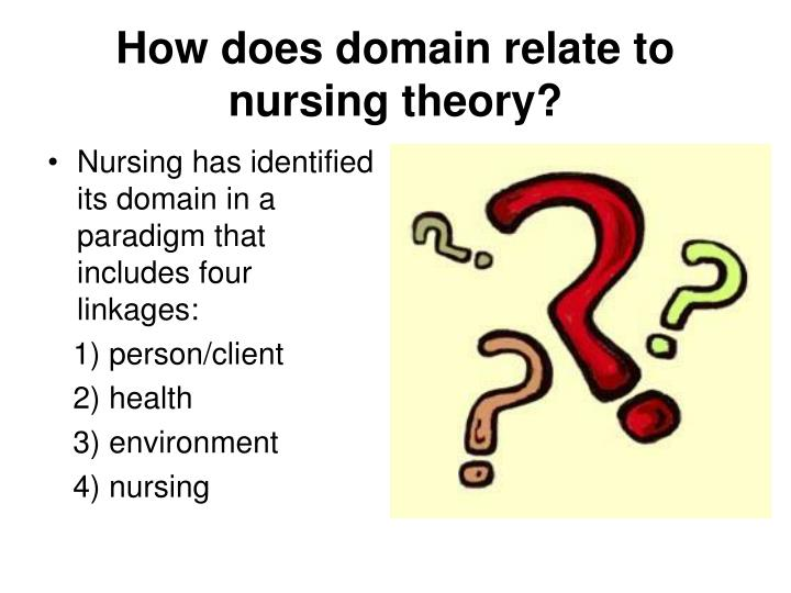 How does domain relate to nursing theory?