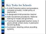key tasks for schools