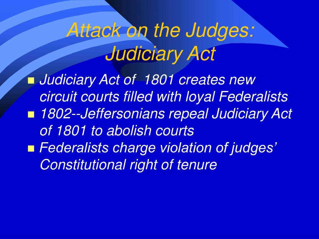 Attack on the Judges: Judiciary Act