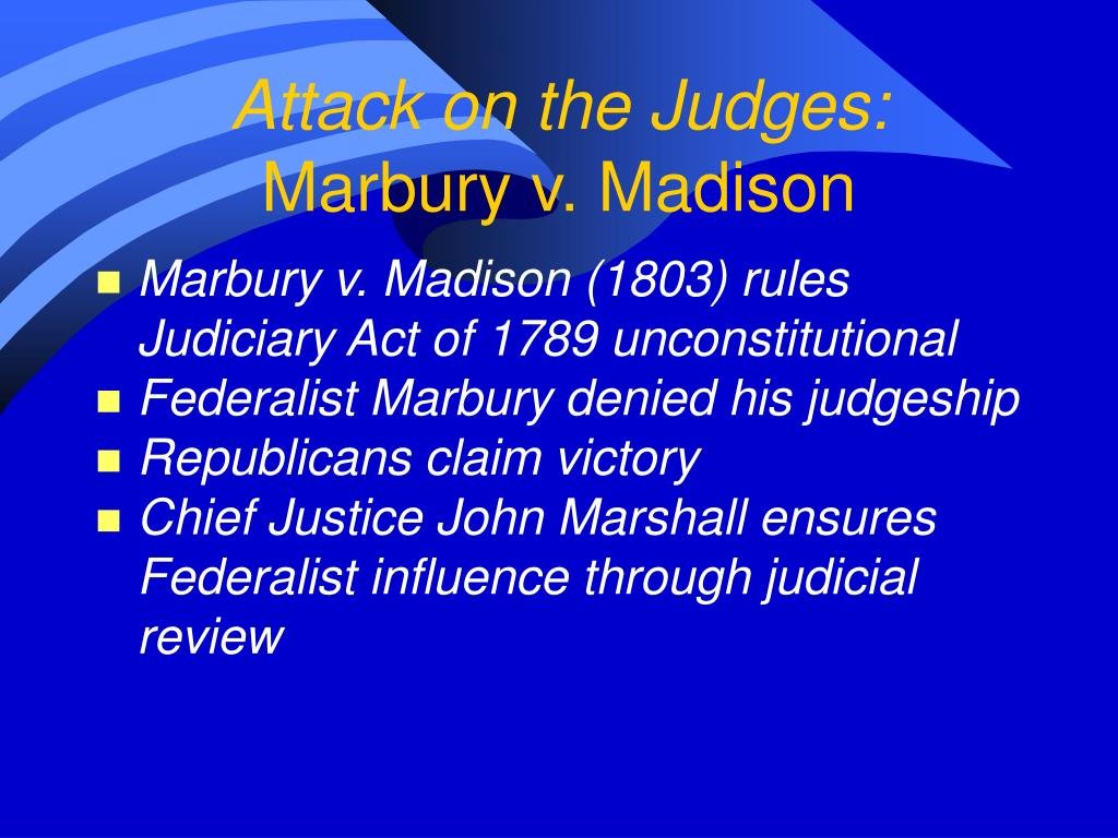 Attack on the Judges: