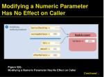 modifying a numeric parameter has no effect on caller1