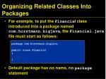 organizing related classes into packages1