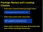 package names and locating classes1