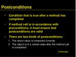 postconditions