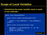 scope of local variables1