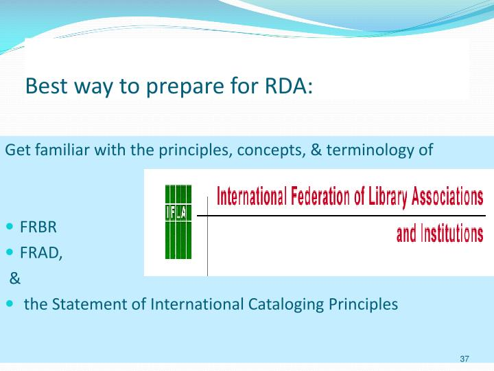 Best way to prepare for RDA: