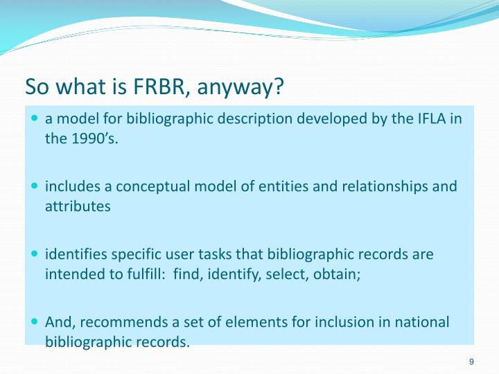 So what is FRBR, anyway?