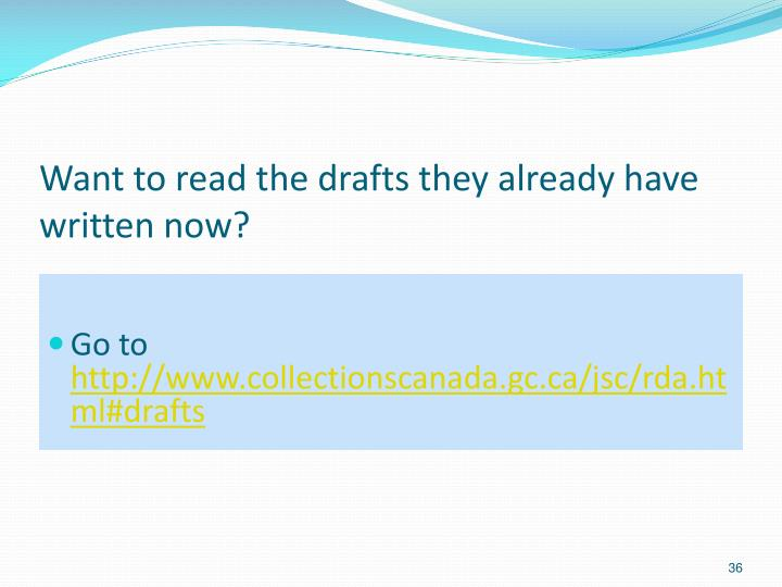 Want to read the drafts they already have written now?