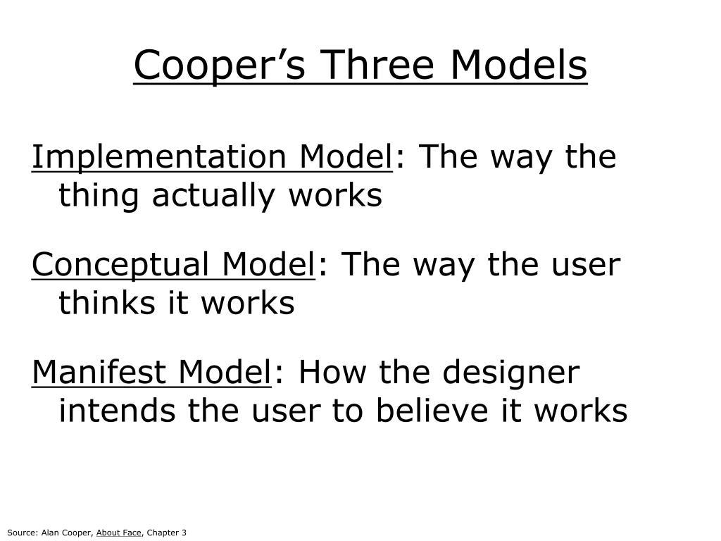 Cooper's Three Models