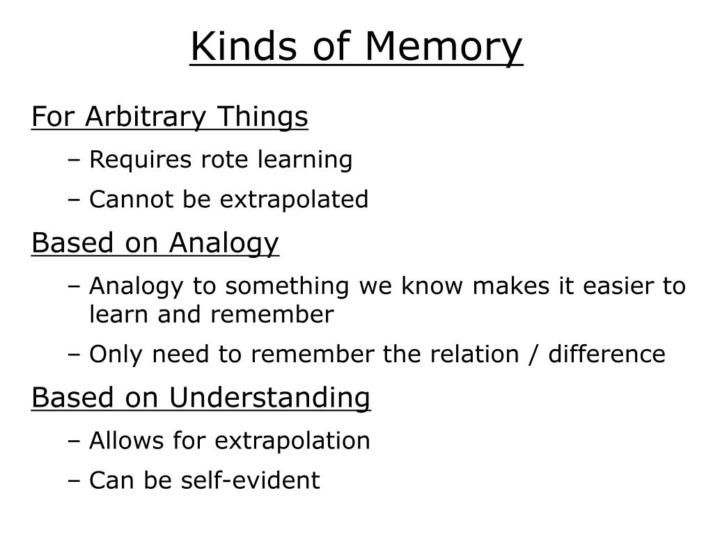 Kinds of Memory