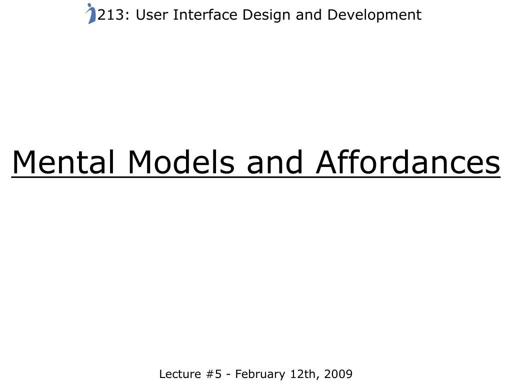213: User Interface Design and Development