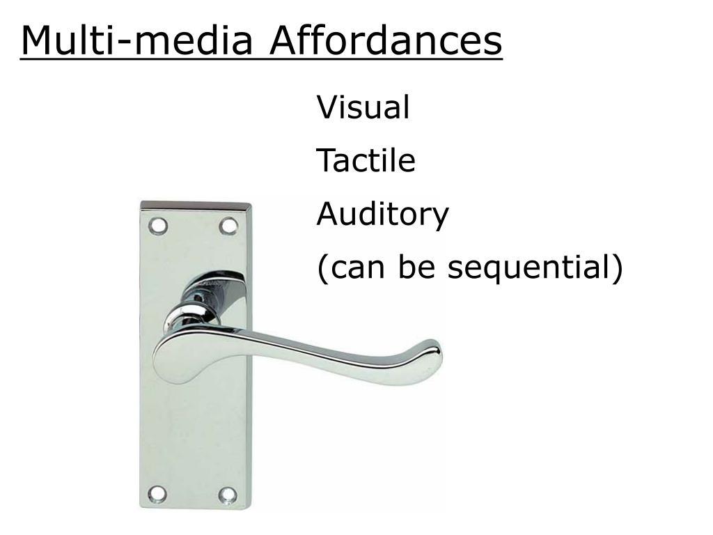 Multi-media Affordances