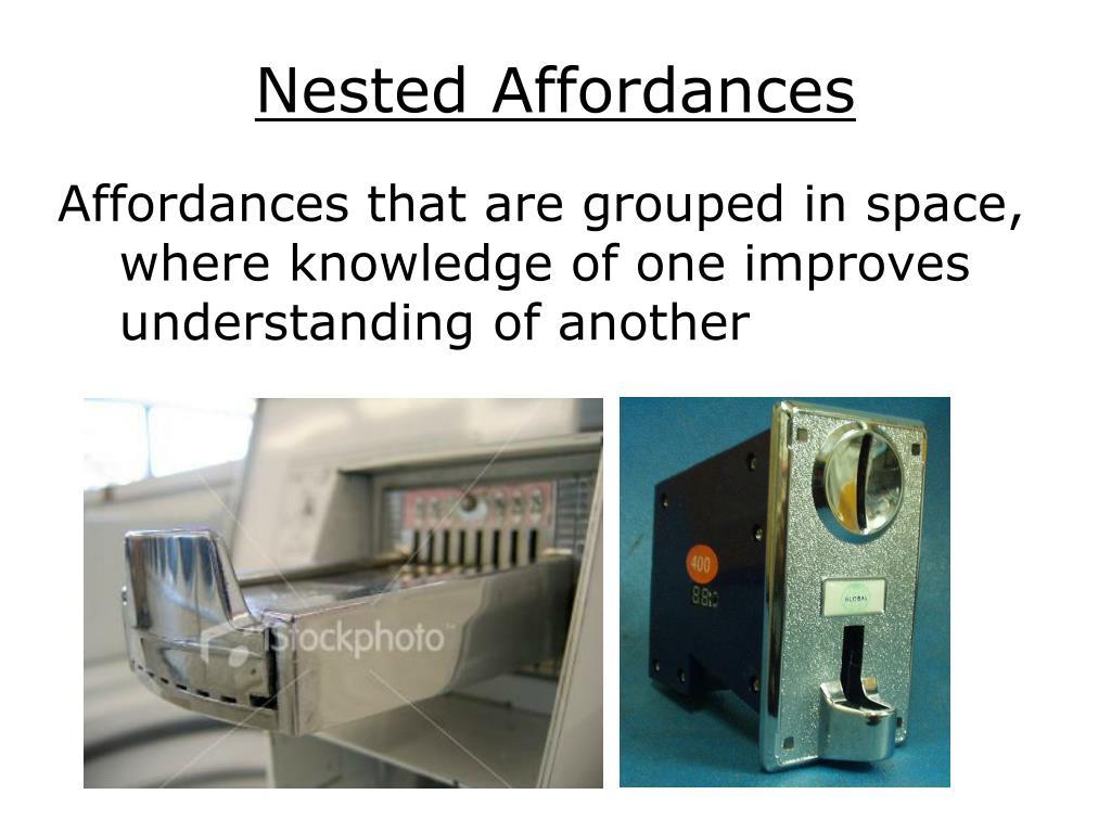 Nested Affordances