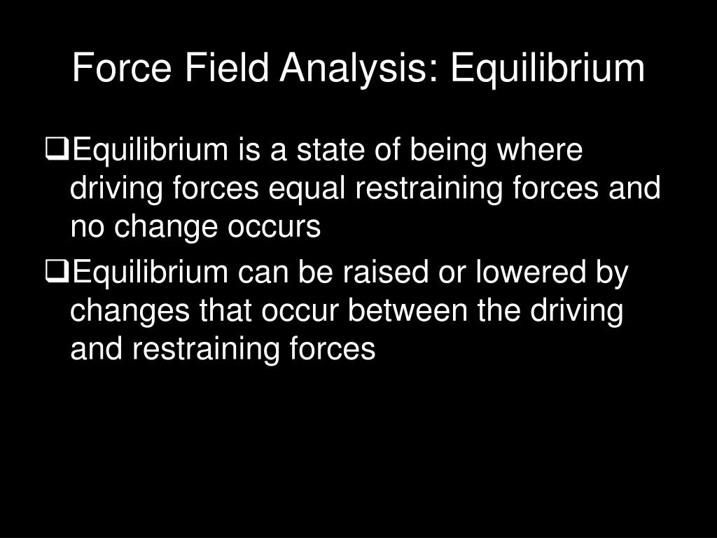 Force Field Analysis: Equilibrium
