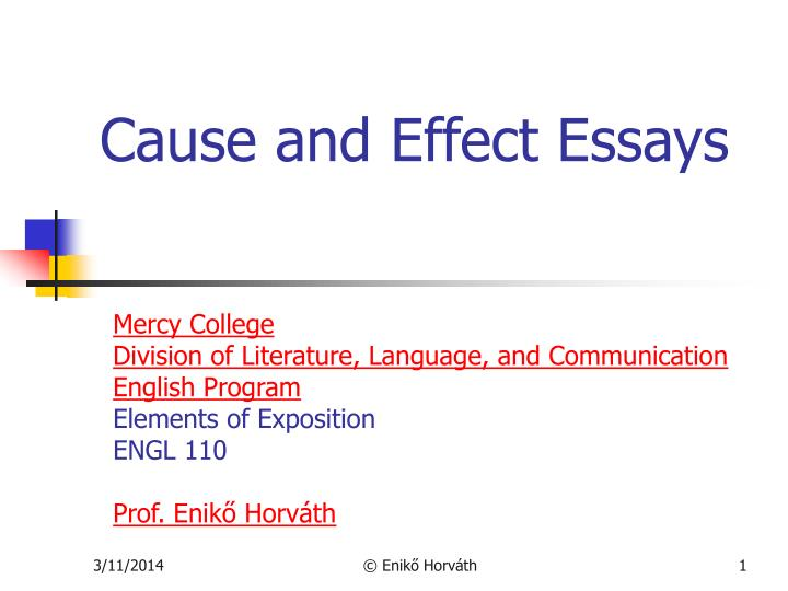 cause and effect essays n.