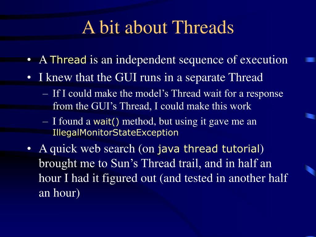 A bit about Threads