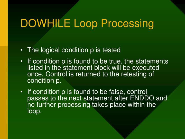 DOWHILE Loop Processing