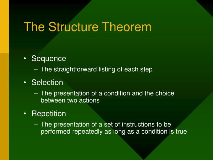 The Structure Theorem