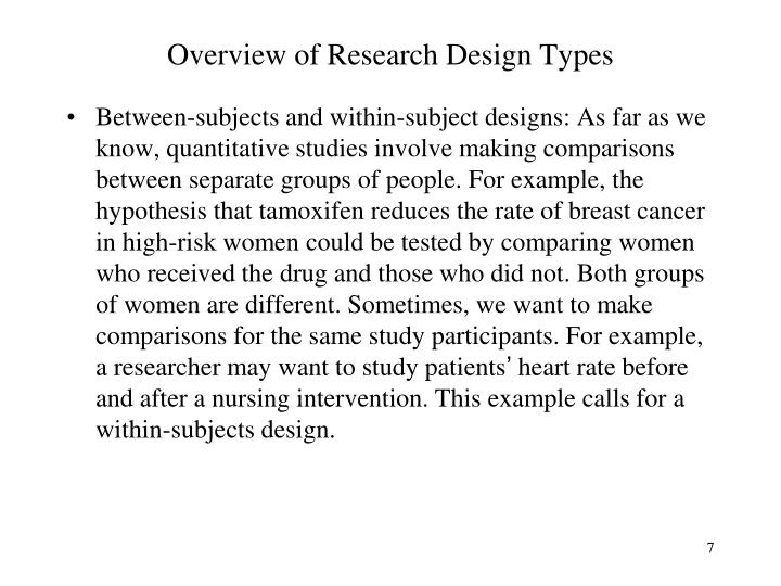 Overview of Research Design Types
