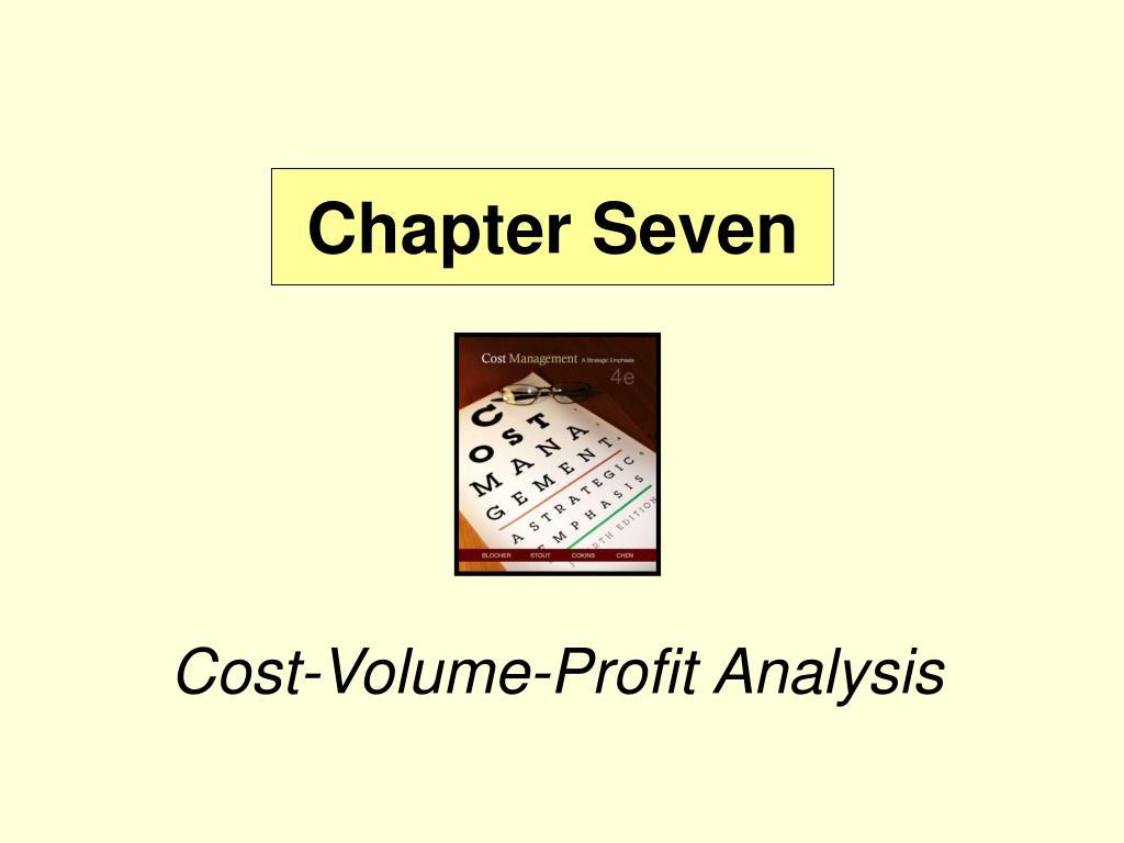 cost volume profit analysis l.
