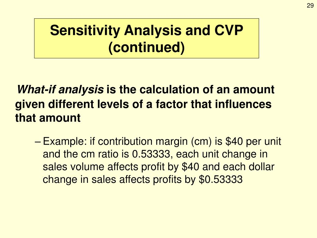 PPT - Cost-Volume-Profit Analysis PowerPoint Presentation