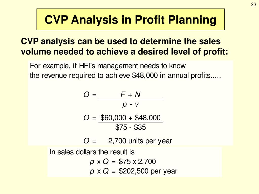 PPT - Cost-Volume-Profit Analysis PowerPoint Presentation - ID:250946
