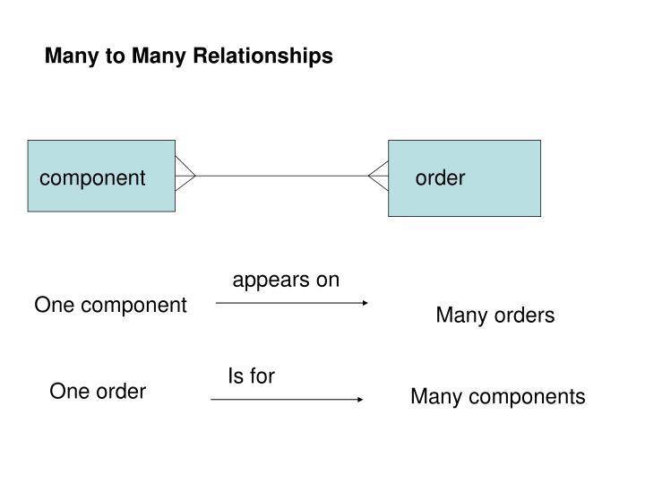Many to Many Relationships