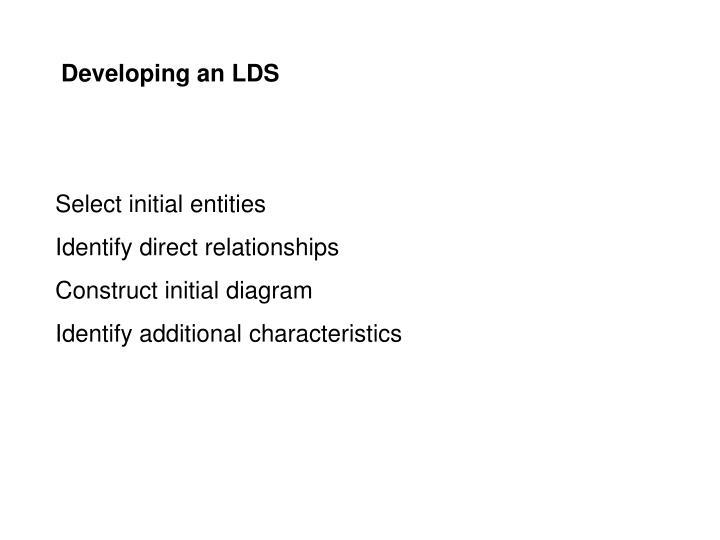 Developing an LDS