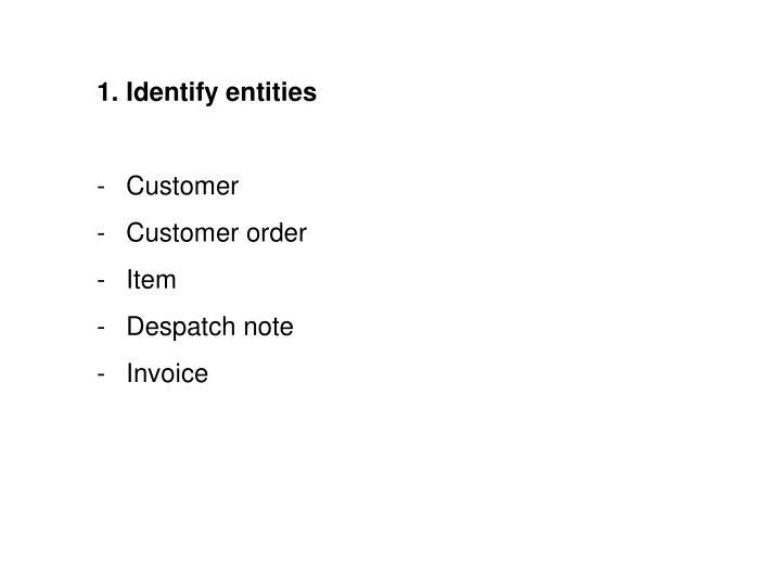 Identify entities
