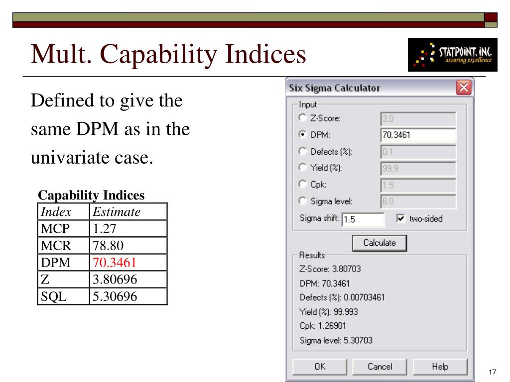 Mult. Capability Indices