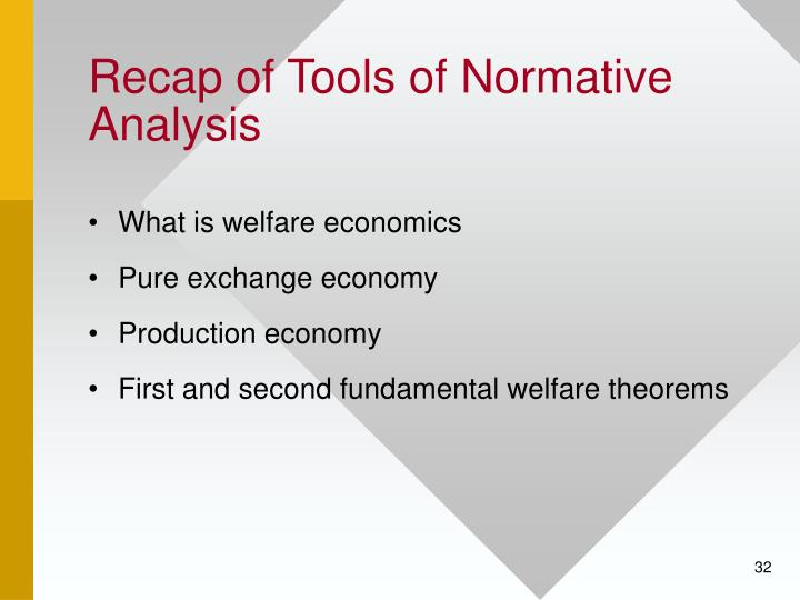 Recap of Tools of Normative Analysis